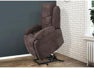 Chocolate Ranier Power Lift Recliner