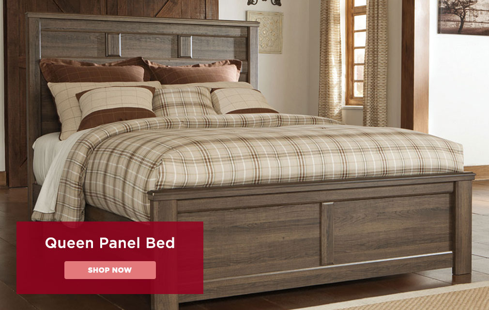 Queen Panel Bed, Shop Now.