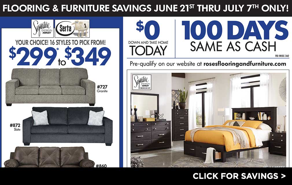 Furniture & Flooring Savings