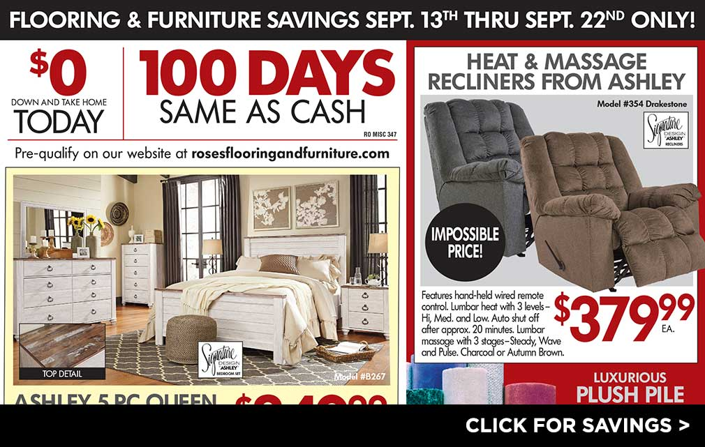 Flooring & Furniture Savings