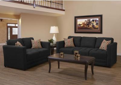 Sierra Ebony Sofa and Loveseat