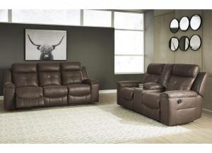 Jesolo Brown Reclining Sofa & Loveseat