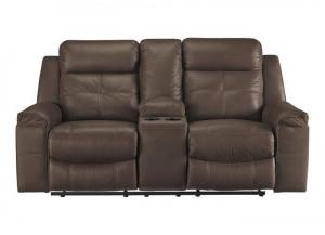 Jesolo Brown Double Reclining Loveseat