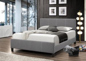 B690 Gray Linen King Bed