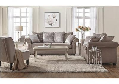 Cosmsos Putty Sofa and Loveseat