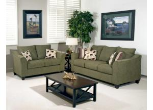 1225 Loveseat - Flyer Green