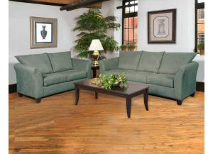 1000 Sage Sofa and Loveseat