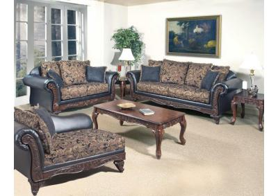 7685 Silas Ebony - Sofa and Loveseat