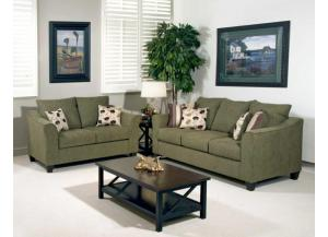 1225 Sofa & Loveseat - Flyer Green