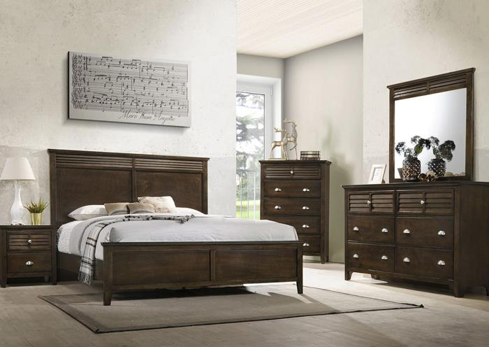 Liam Brown 5-Piece Bedroom Set,LIFESTYLE