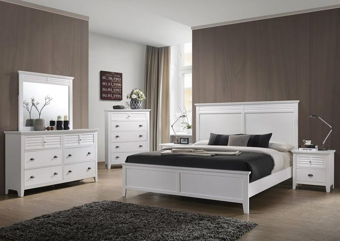 Liam White 5-Piece Bedroom Set,LIFESTYLE