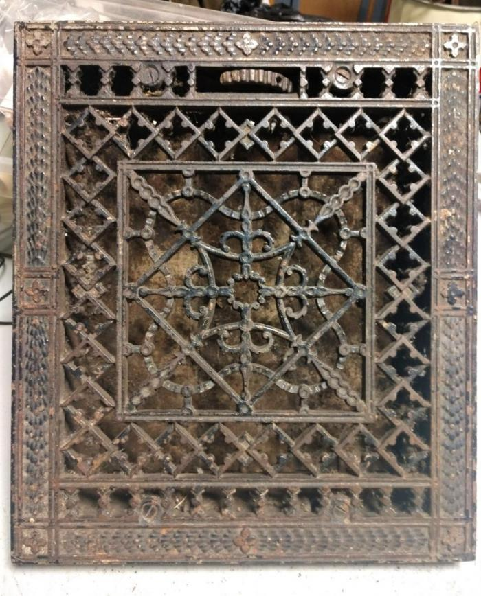 Antique Cast Iron Register Grate,Architectural Salvage
