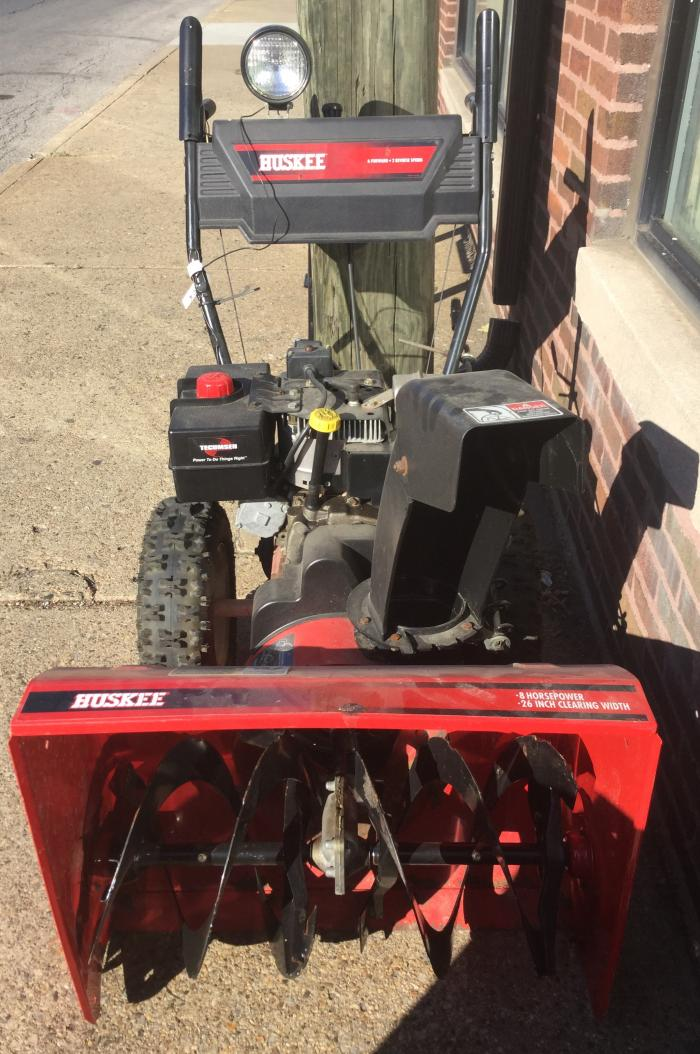 Huskee Snow Thrower,Pre-Owned Furniture
