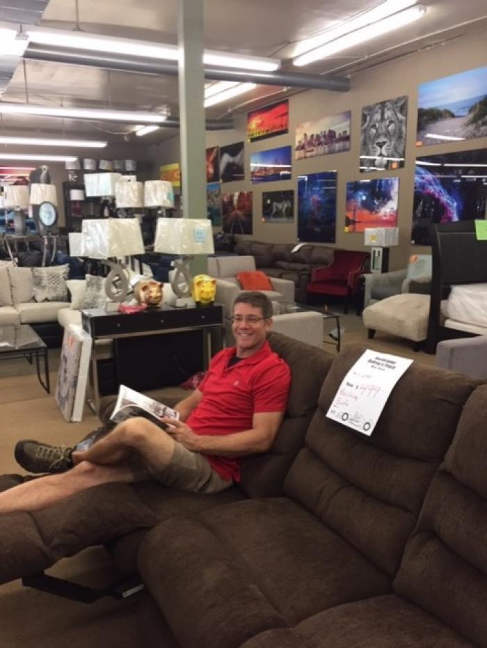 Reclining Sofa $399.00,SPECIALS-CLEARANCE