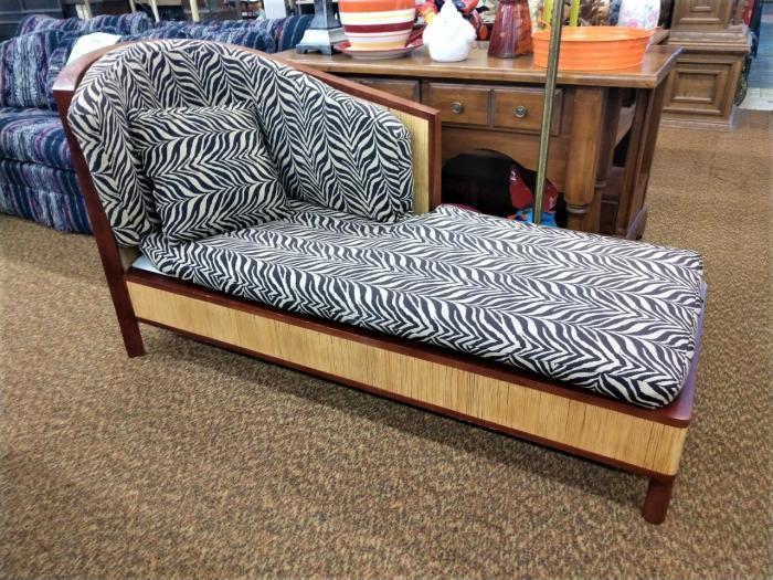 Zebra Chaise,Pre-Owned Furniture