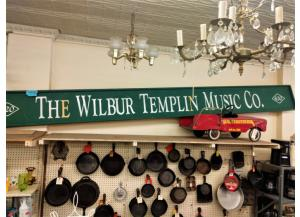 1905 Vintage Wilbur Templin Music Co., Sign