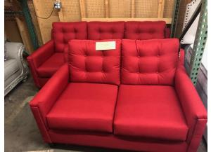 Red Sofa and Loveseat $599
