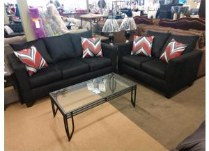 Image for Ruby Black Sofa & Love Seat $549.00