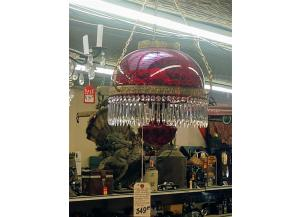 Ruby Glass Light Fixture