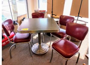 Image for Retro Table & 4 Chairs