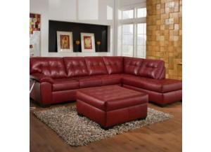 Simmons Soho Red Sectional