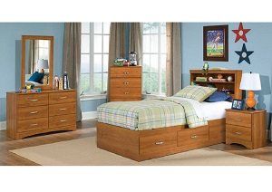 Tanner Twin Mates Bookcase Headboard