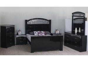 Black Siren Queen Bed