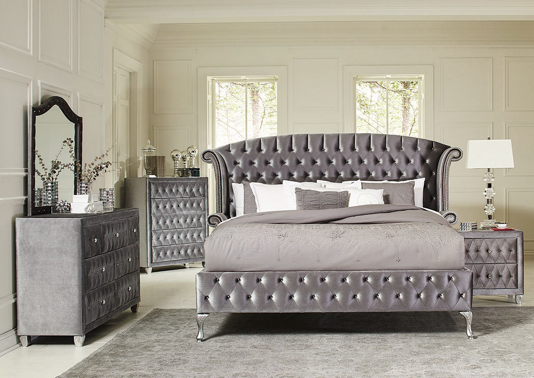 Metallic Queen Bed w/Dresser and Mirror,Best buy furniture