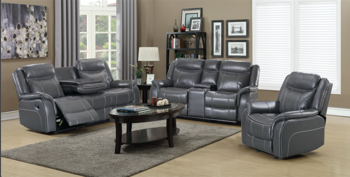 20207 Grey Reclining sofa & love seat,Amalfi