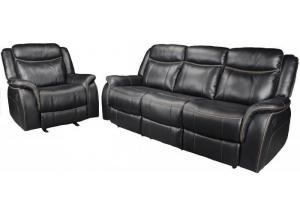 20207 Black Reclining sofa & love seat