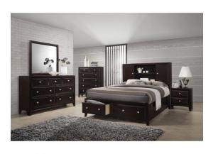 6498 Queen bed, dresser & mirror
