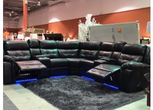 3631 Black Reclining sectional