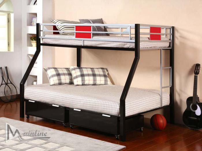 98633 Twin/ Full Metal Bunk Bed ,Beverly Hills Designs