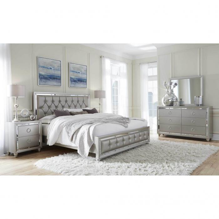 Riley Silver Queen Bedgroup special ,Beverly Hills Designs