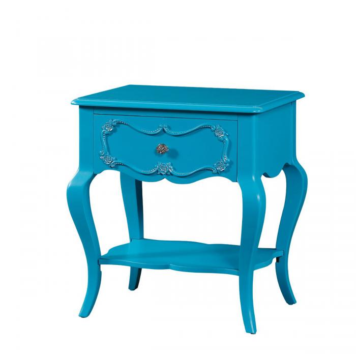 Edalene Turquoise Nightstand,Acme Furniture