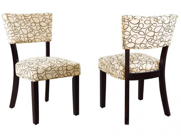 103162 Cappuccino/ Tan Dining Chair (set of 2),Beverly Hills Designs