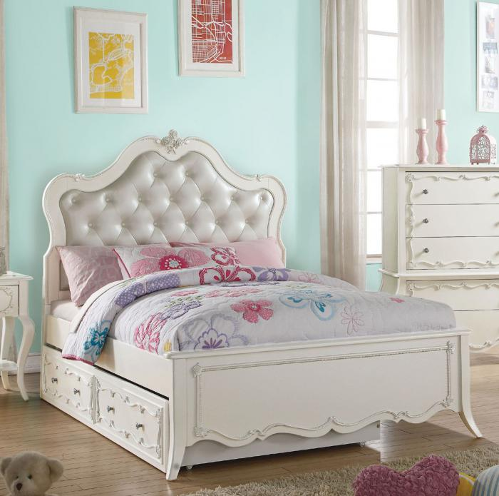 Edalene Pearl Full Bed with Trundle,Acme Furniture