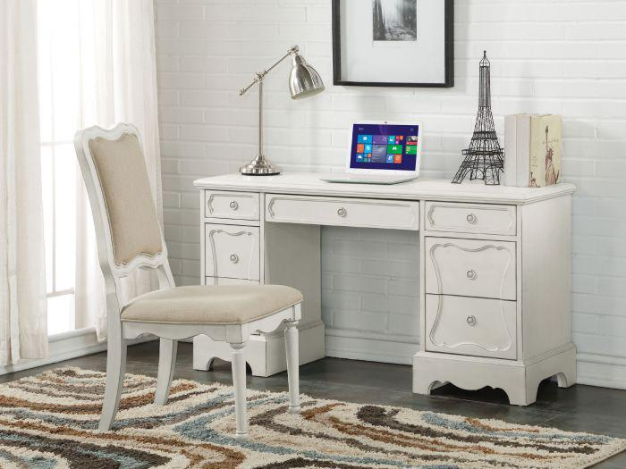 Morre Antique White Desk & Chair,Acme Furniture
