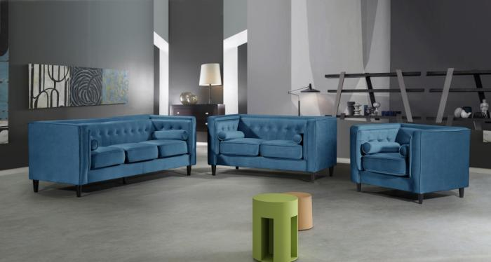 Beverly Hills Furniture - Bronx, NY Taylor Blue Sofa and loveseat