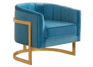 Carter Aqua Velvet Chair