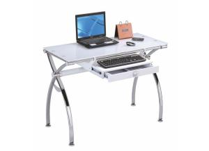 Retro Chrome/ White Computer Desk
