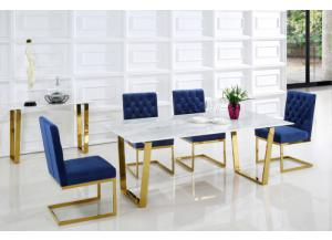 Cameron Gold/Blue Dining 5pc Dining set