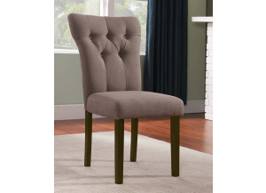 Effie Walnut/ Light Brown Linen Chair 2pk
