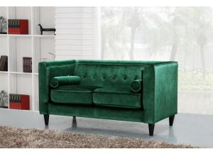 642 Green Velvet Loveseat