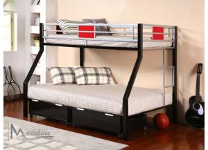 98633 Twin/ Full Metal Bunk Bed