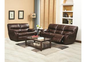 U-14000 BROWN SOFA & LOVESEAT LUCY