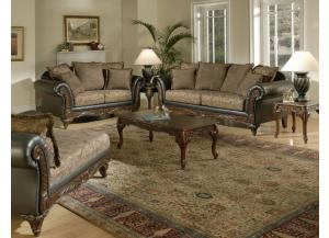 7685 Traditional Sofa and Loveseat