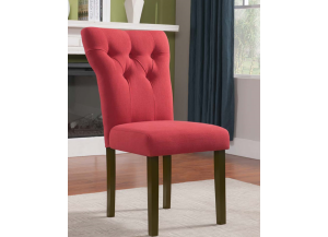 Effie Walnut/ Red Linen Chair 2pk