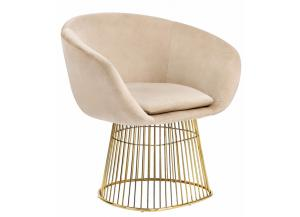 Dylan Beige Velvet Chair