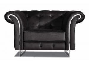 626 Black Velvet Chair